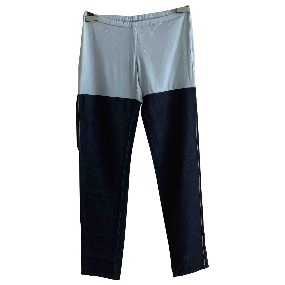 Maison Martin Margiela \N Denim - Jeans Trousers for Women 40 IT