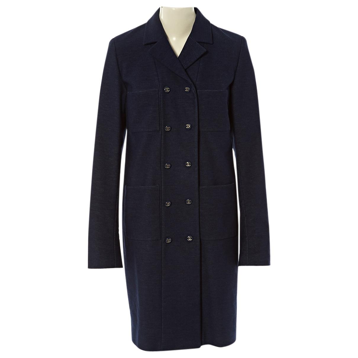 Chanel \N Blue Cotton coat for Women 40 FR