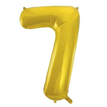Numéro 7 Ballon Feuille Or 34