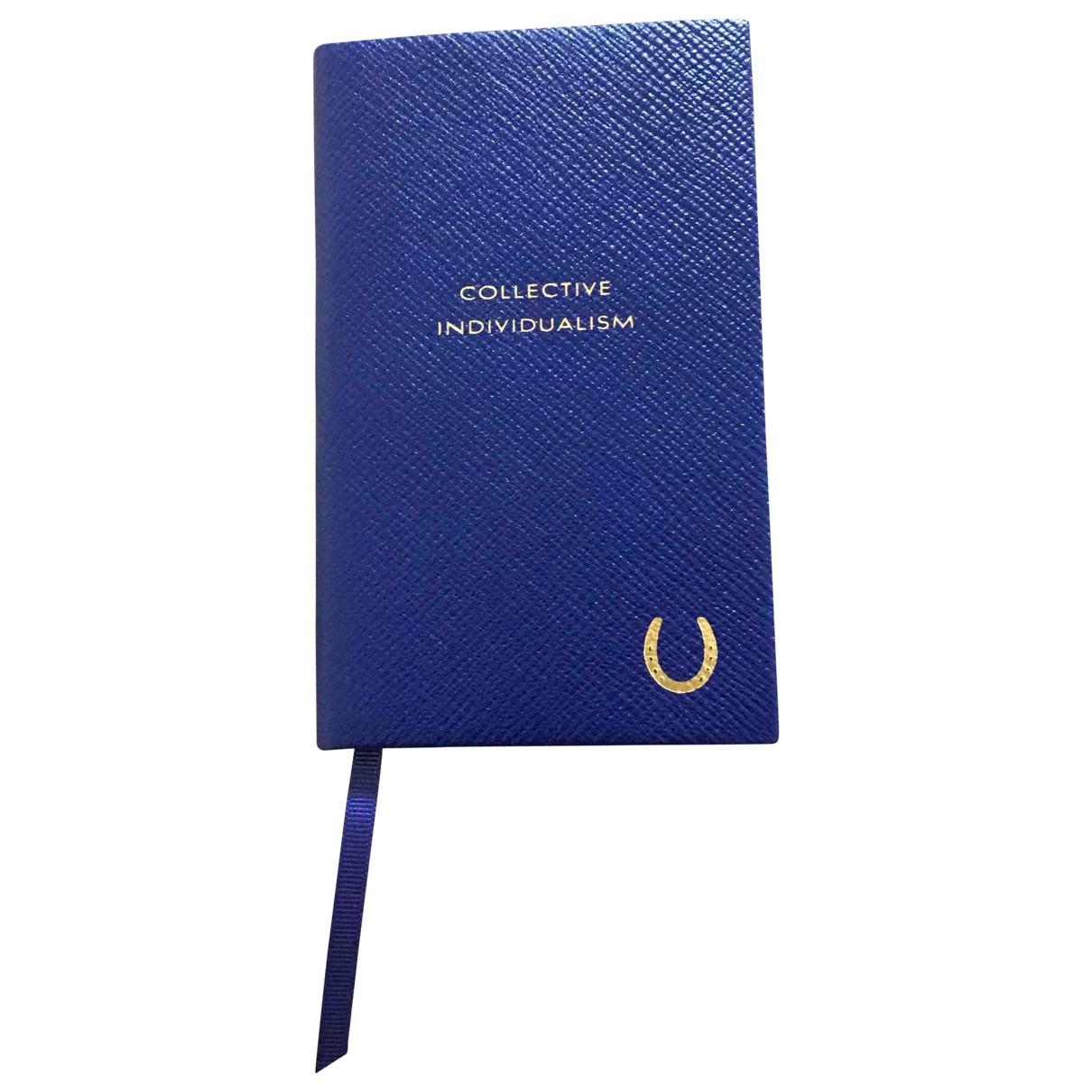 Smythson - Objets & Deco   pour lifestyle en cuir - bleu