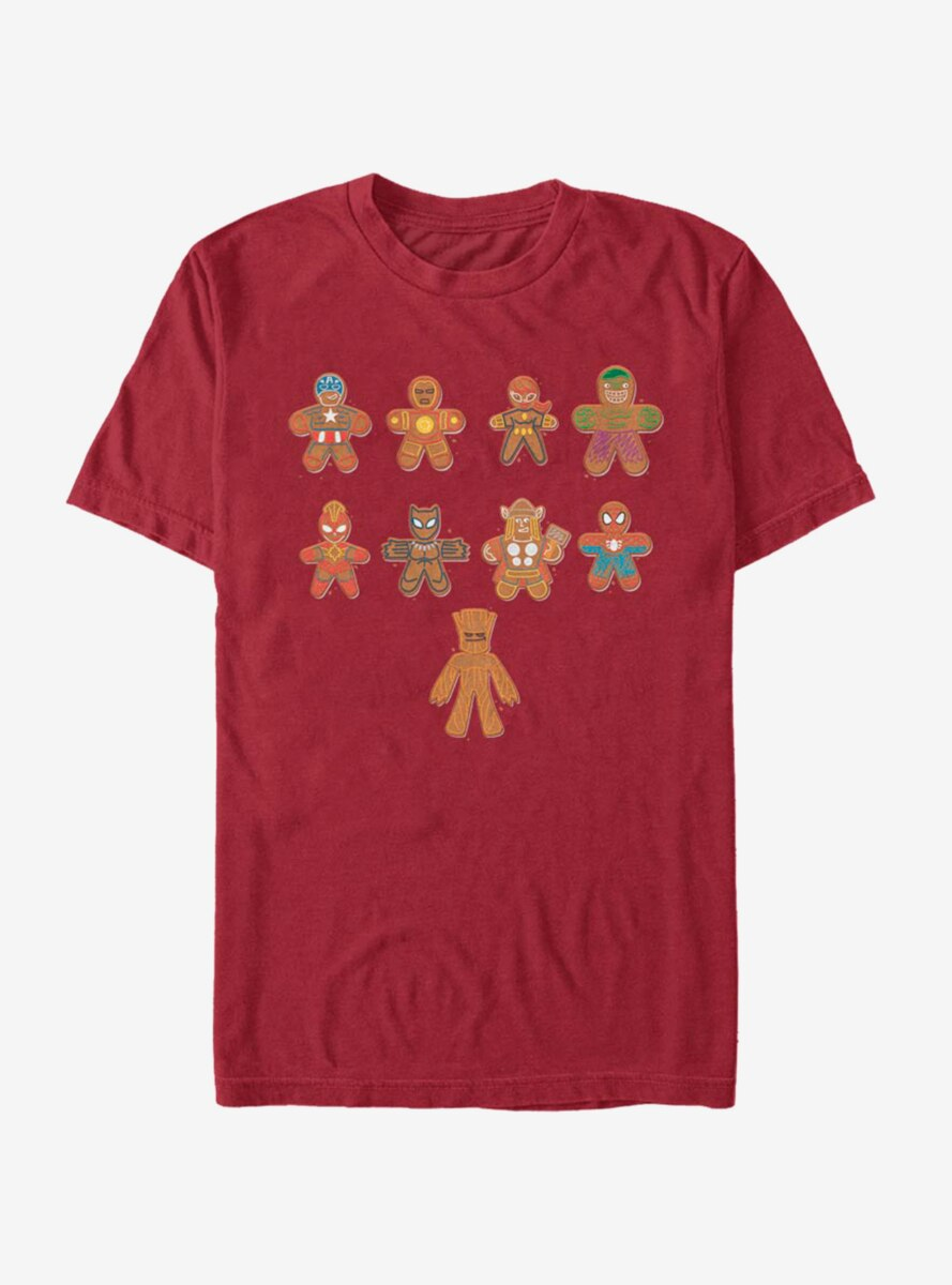 Marvel Avengers Lined Up Cookies T-Shirt