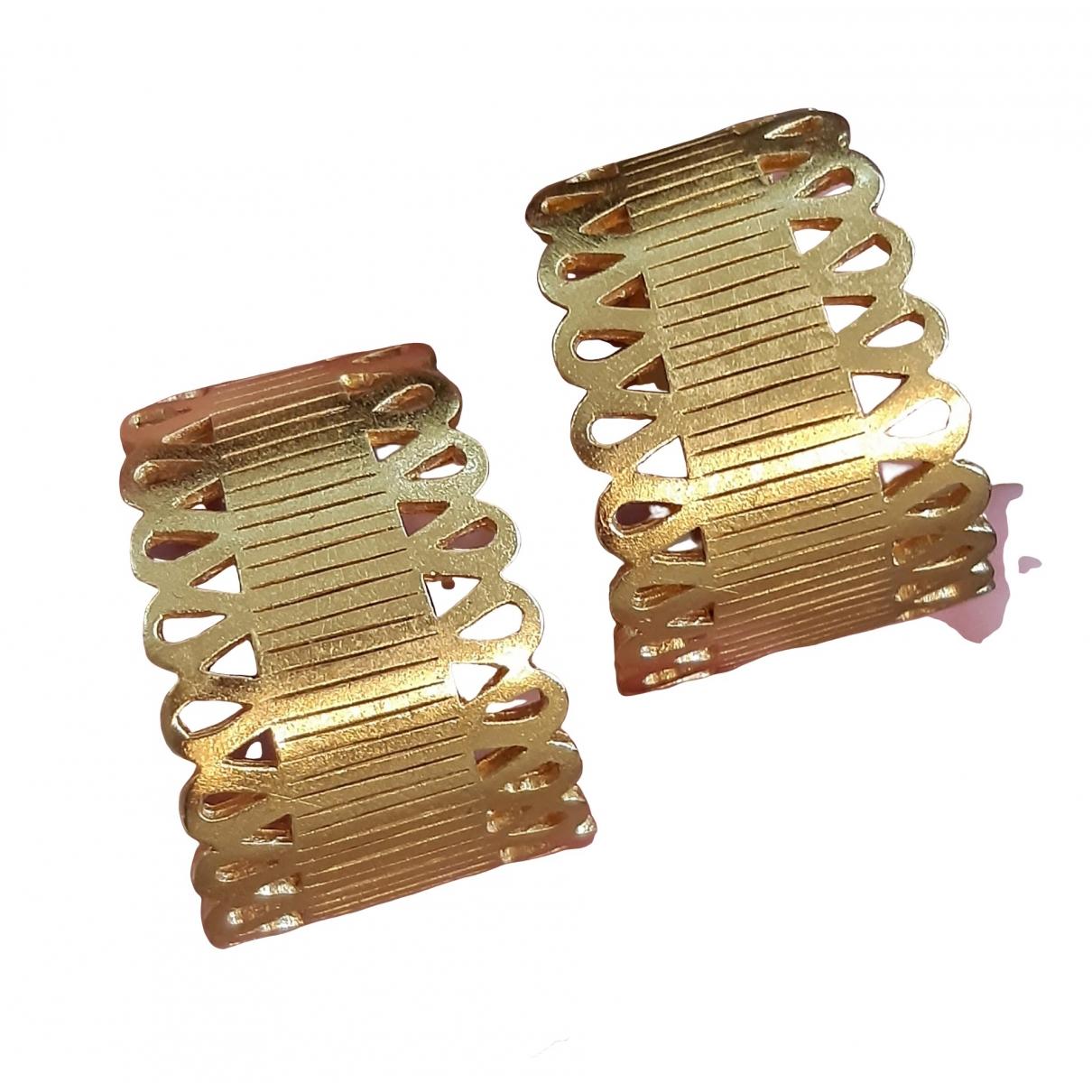 Escada - Boucles doreilles   pour femme en plaque or - dore