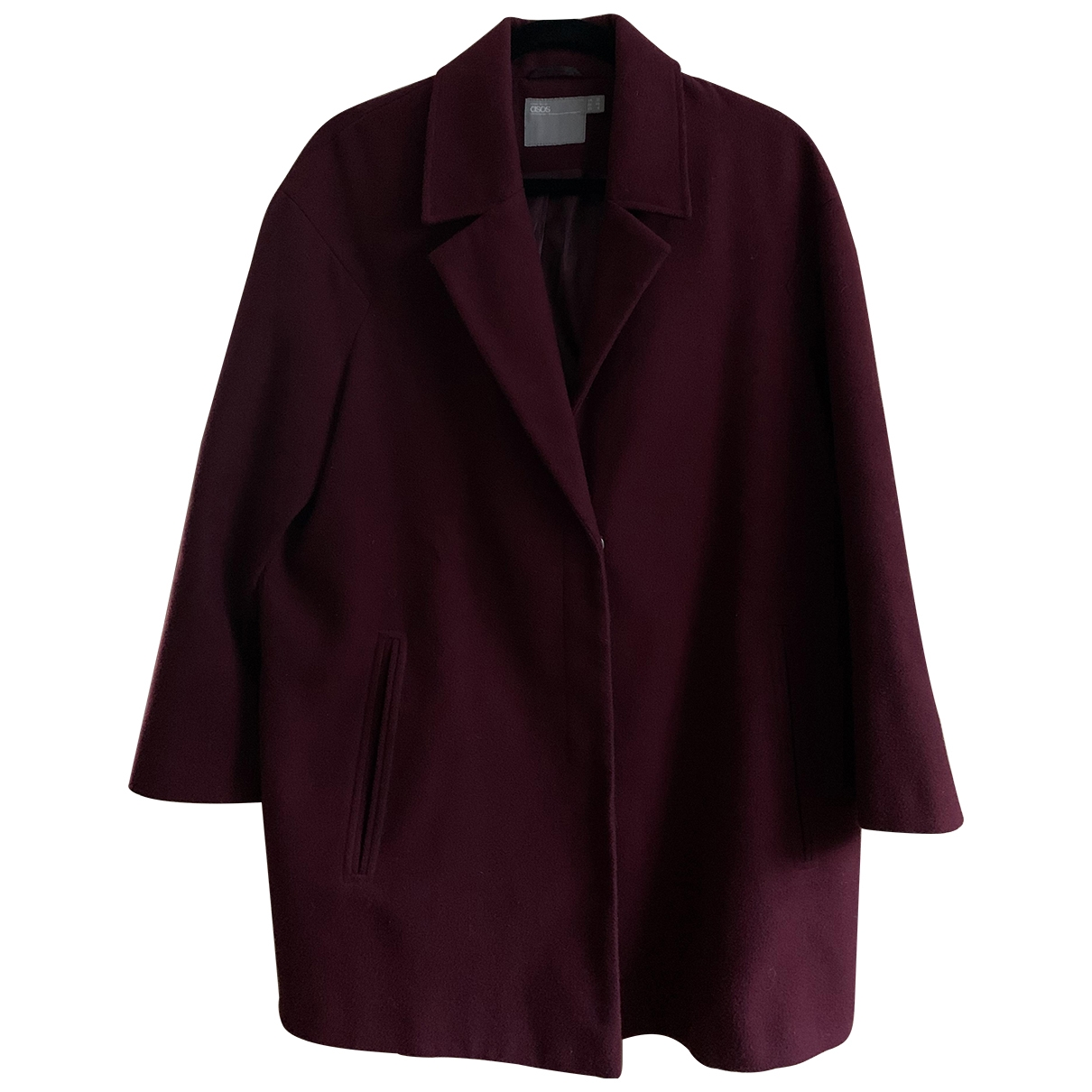 Asos - Manteau   pour femme - bordeaux