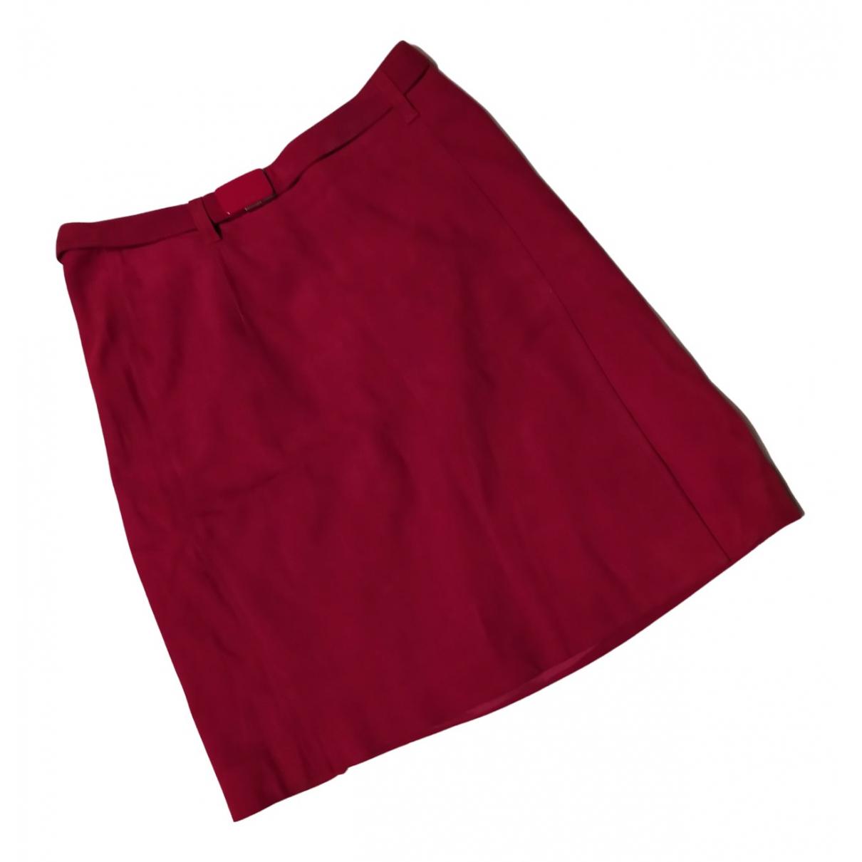 Prada - Jupe   pour femme en suede - rouge