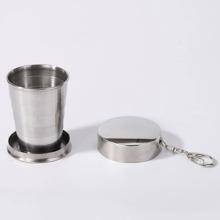 1 Stueck Edelstahl faltbare Tasse
