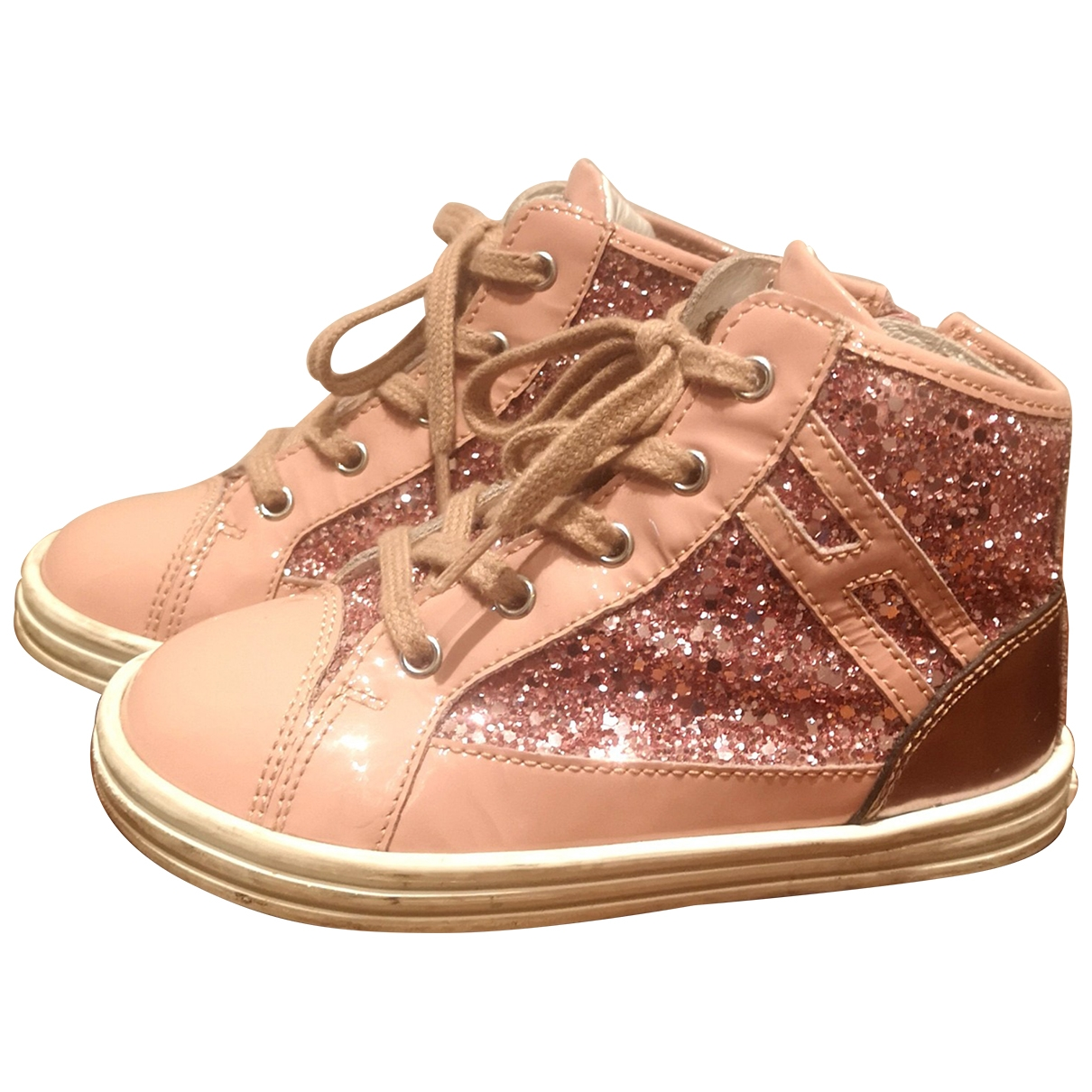 Hogan \N Pink Leather Boots for Kids 24 EU