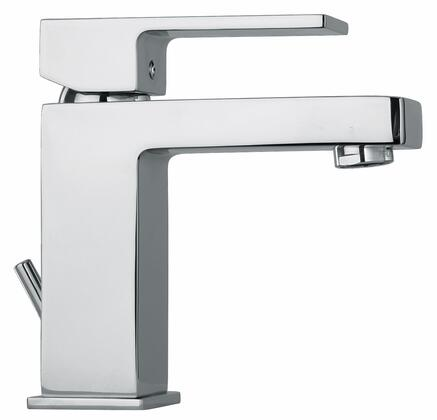 12211-81 Single Lever Handle Lavatory Faucet With Linear Matched Spout  Brushed Nickel