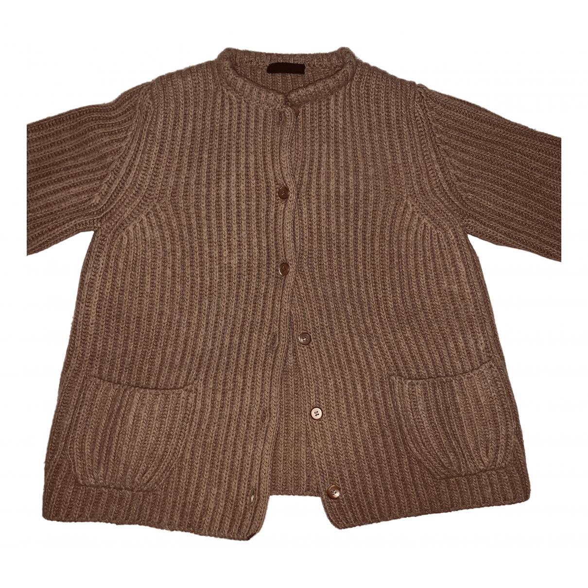 Prada N Camel Wool Knitwear for Women 42 IT