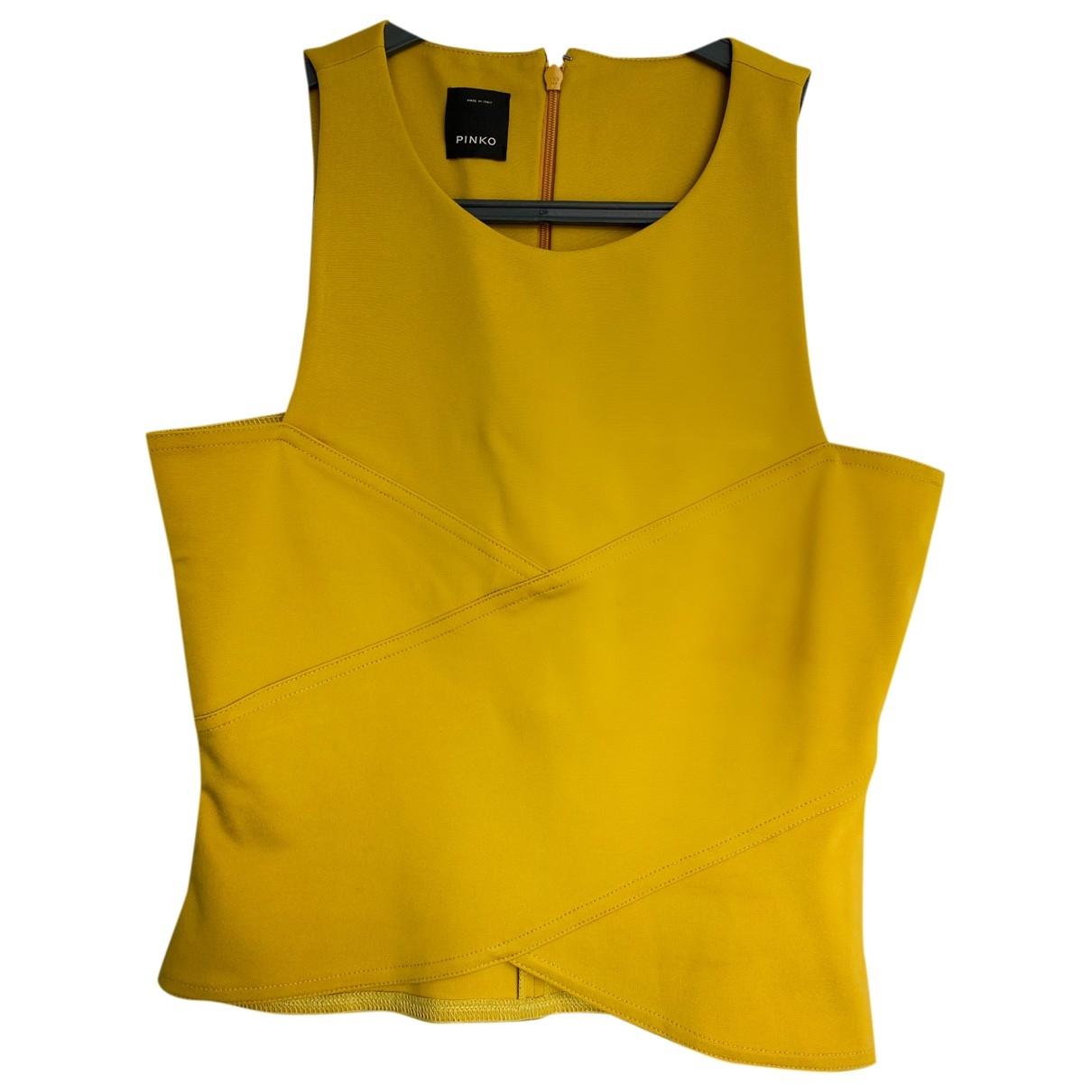 Pinko \N Top in  Gelb Viskose