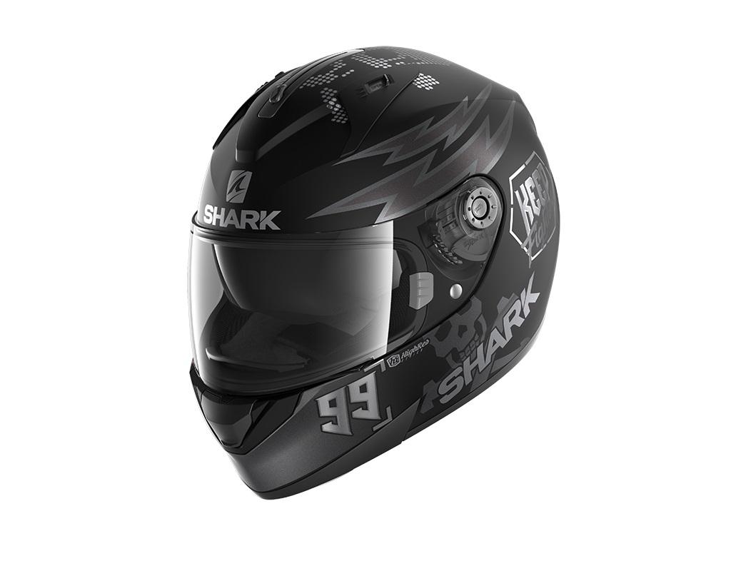 Shark Ridill 1.2 Catalan Bad Boy KAS Mat Black Anthracite Silver Full Face Helmet XS