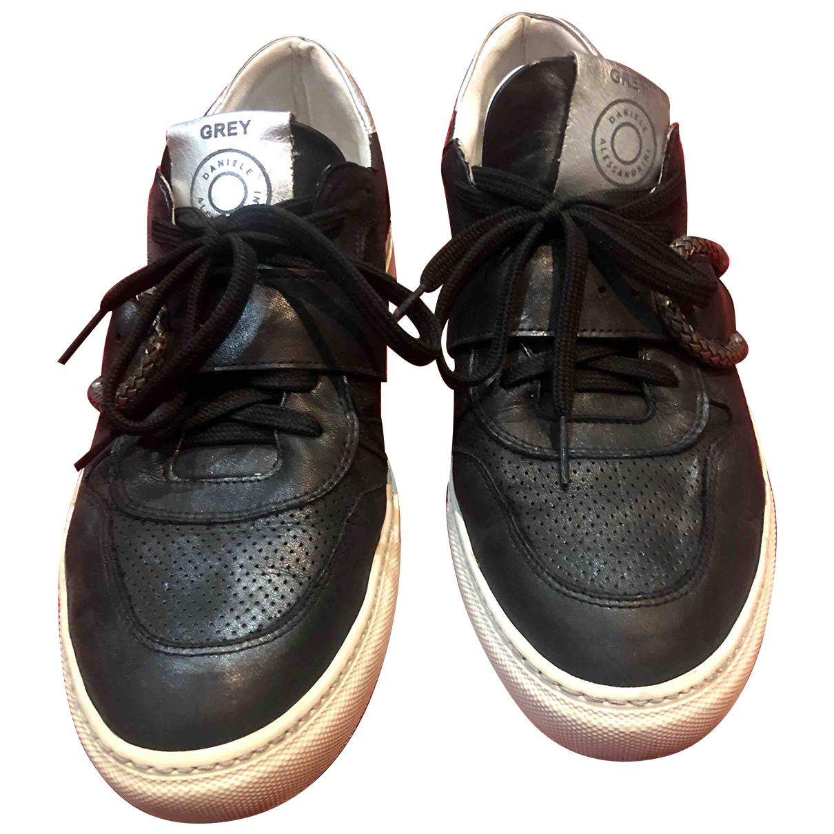 Daniele Alessandrini \N Sneakers in  Schwarz Leder