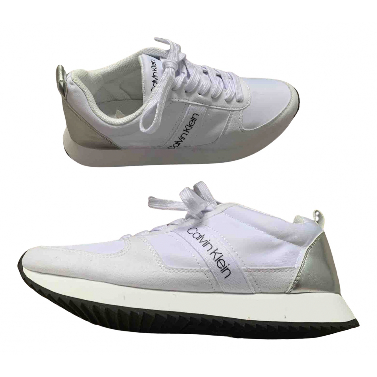 Michael Kors N White Leather Trainers for Women 5 UK