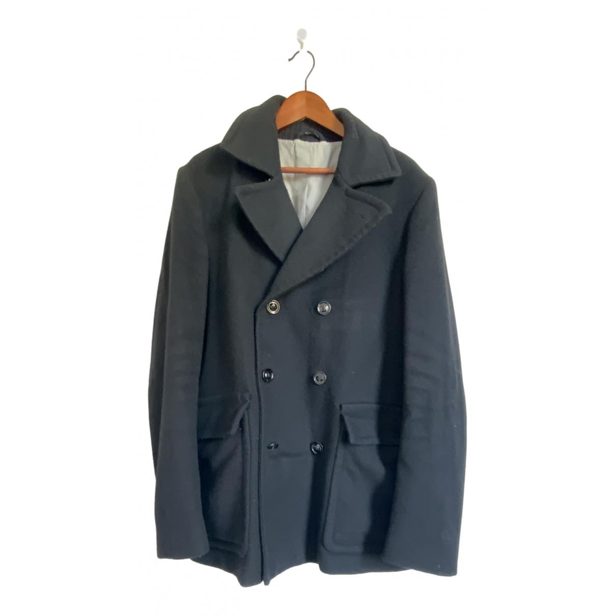 Maison Martin Margiela \N Black Wool coat  for Men 52 IT