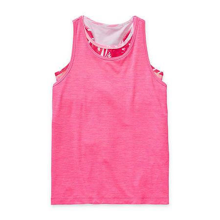 Xersion Little & Big Girls Plus 2-pc. Crew Neck Tank Top, Xx-small (4-5) , Pink