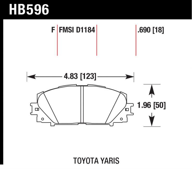 Hawk Performance HB596F.690 Disc Brake Pad Front