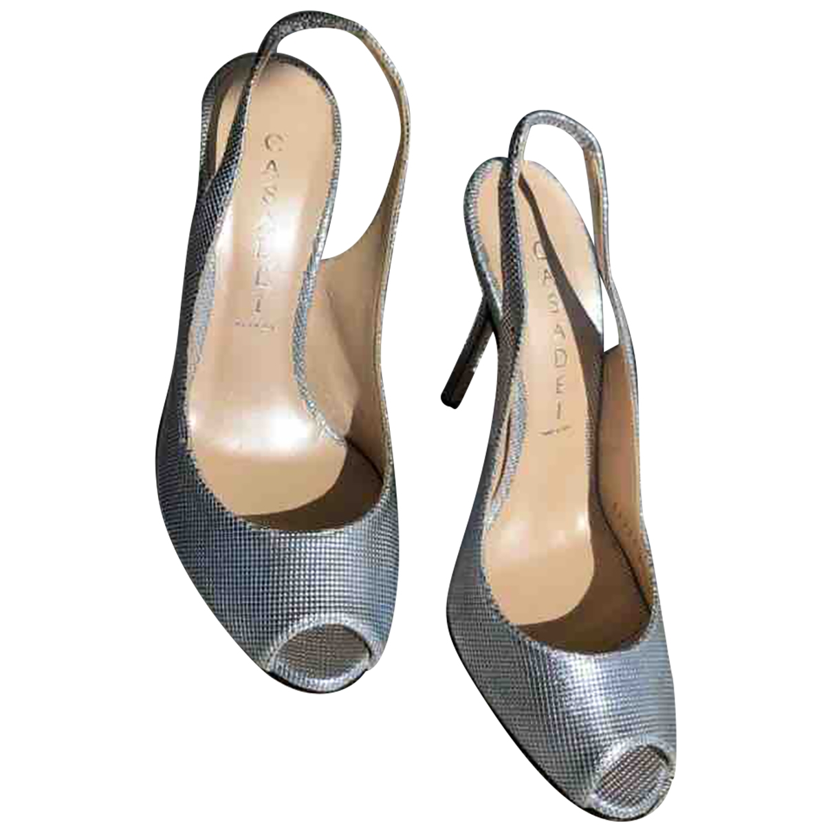 Casadei \N Silver Patent leather Heels for Women 35 EU
