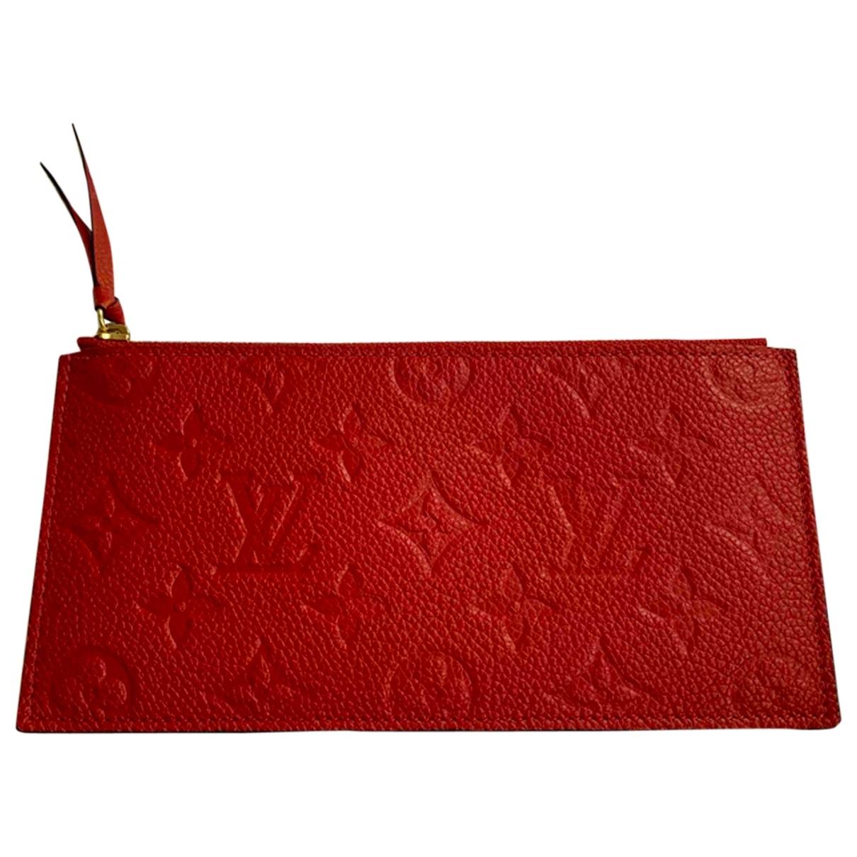 Louis Vuitton Adèle Red Leather Purses, wallet & cases for Women \N