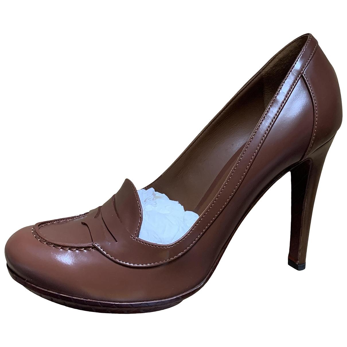 Bottega Veneta \N Brown Leather Heels for Women 40 EU
