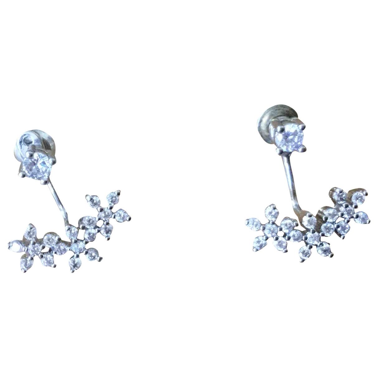 Non Signe / Unsigned Motifs Floraux OhrRing in  Silber Metall