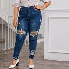 Skinny Jeans mit Riss