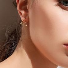 3D Open Triangle Earrings 1pair