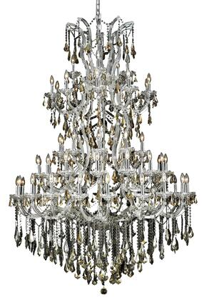 2801G54C-GT/SS 2801 Maria Theresa Collection Large Hanging Fixture D54in H72in Lt: 60+1 Chrome Finish (Swarovski Strass/Elements Golden