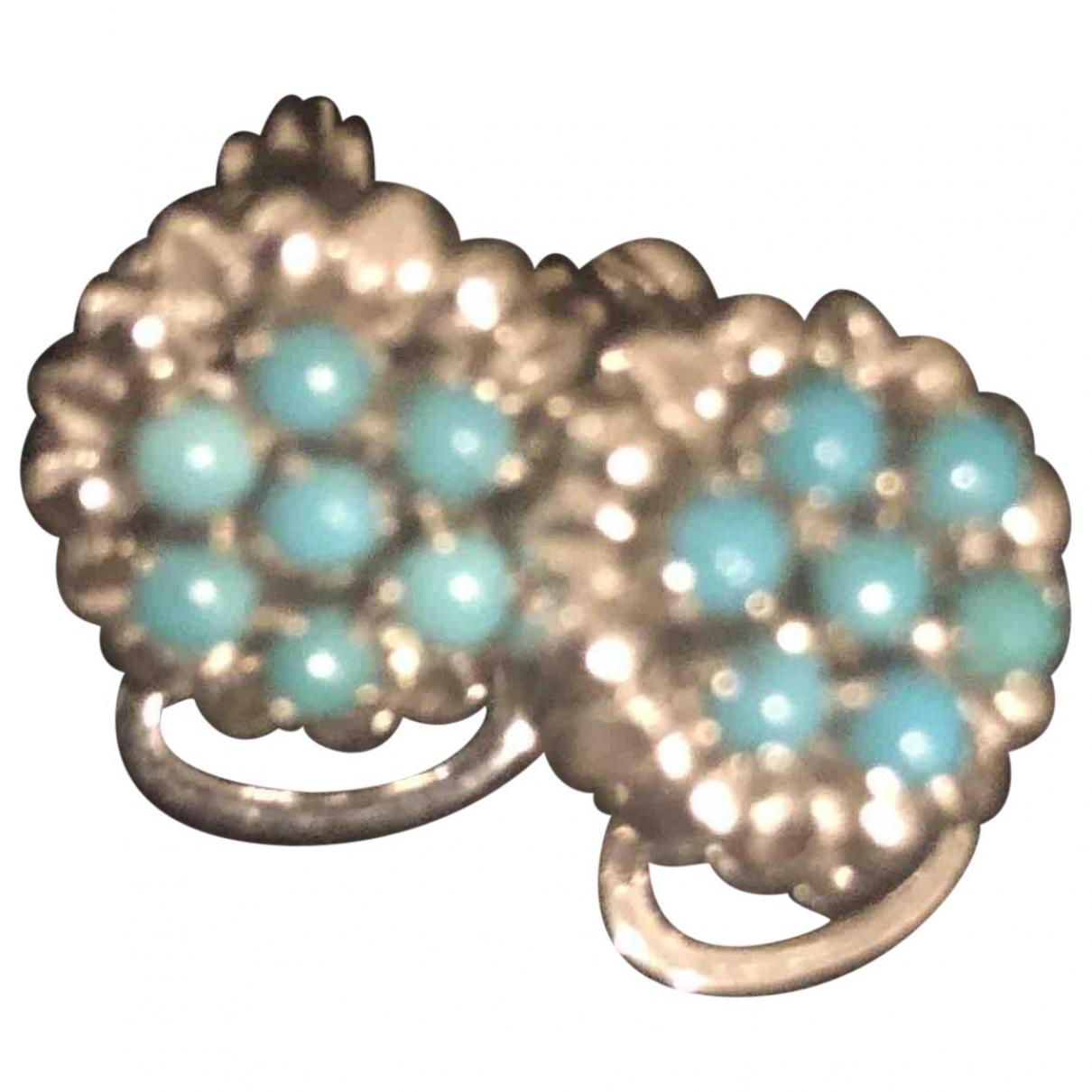 Pendientes Turquoises de Oro blanco Non Signe / Unsigned
