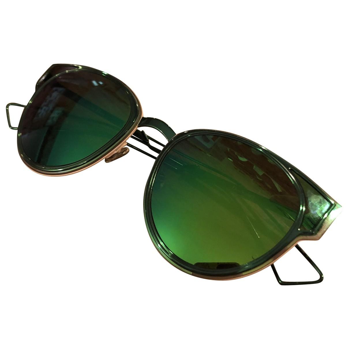 Dior \N Green Metal Sunglasses for Women \N