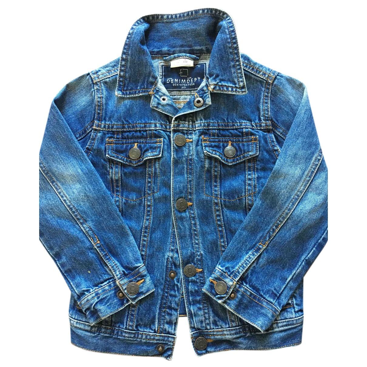 Zara - Blousons.Manteaux   pour enfant en denim - bleu