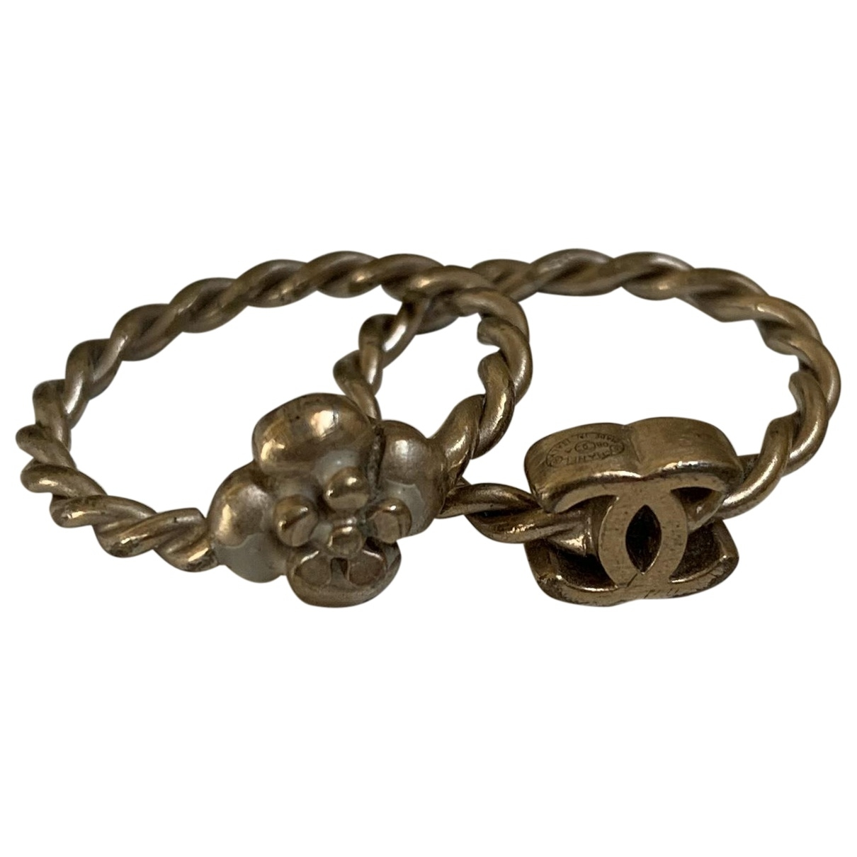 Chanel Camélia Gold Metal ring for Women \N