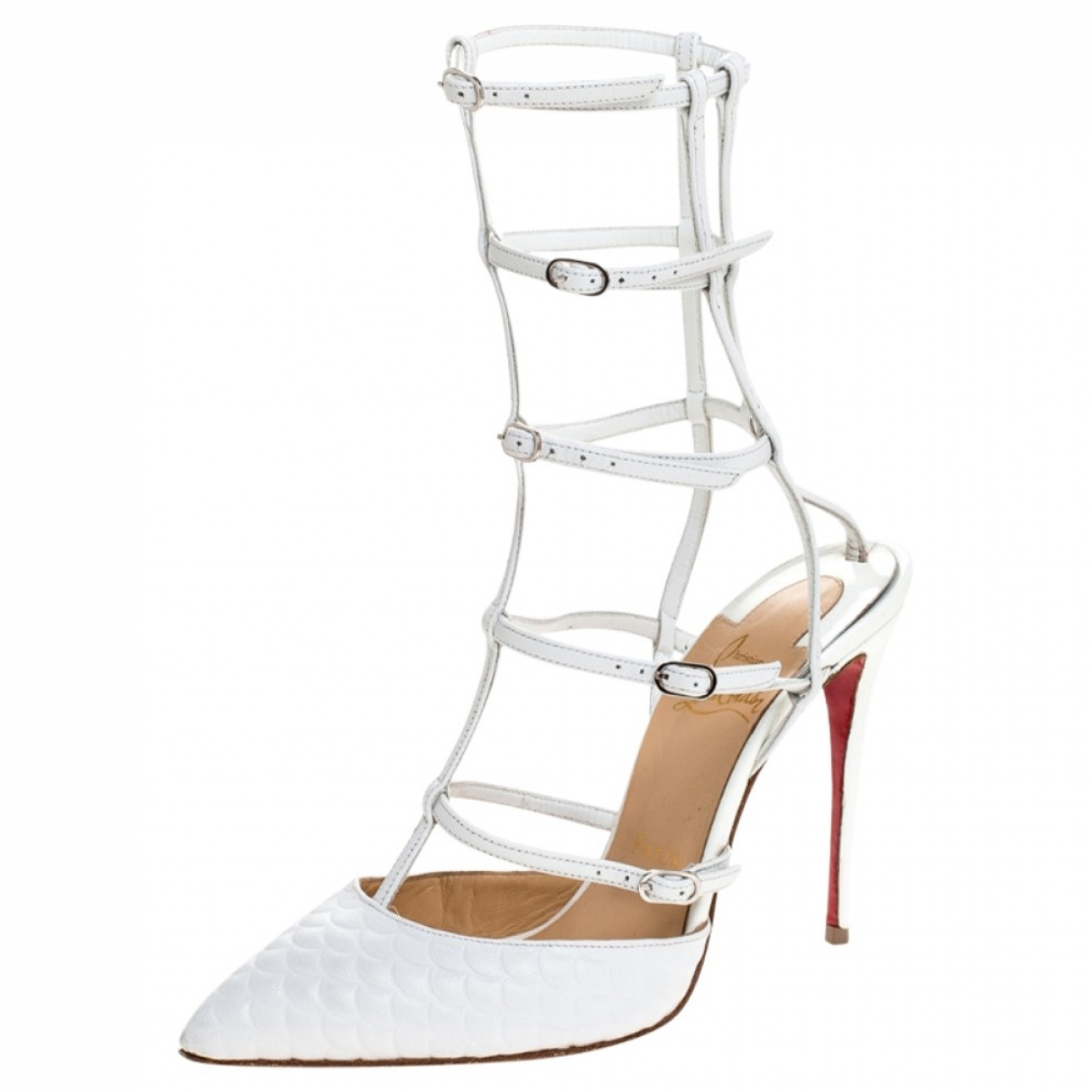 Christian Louboutin - Sandales   pour femme en cuir - blanc