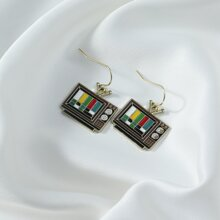 Television Drop Earrings