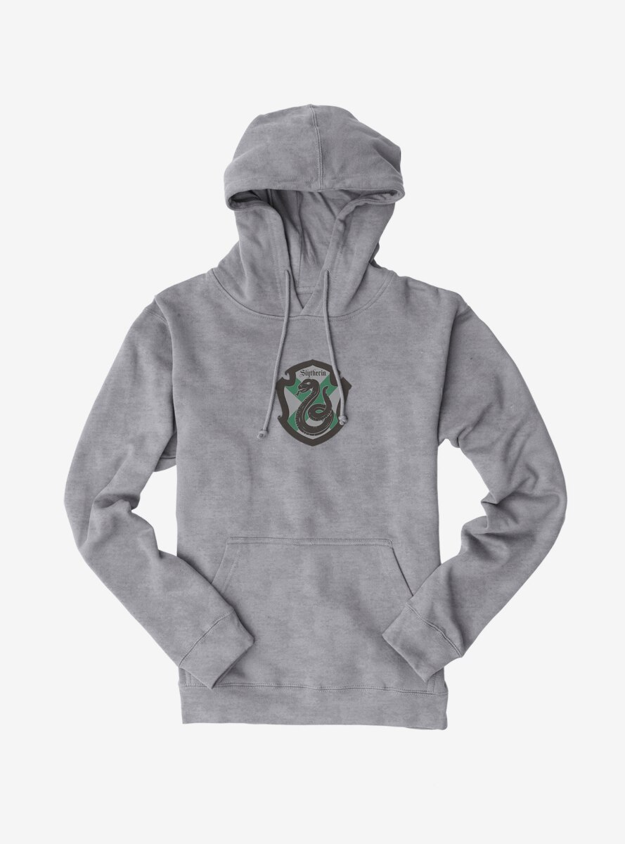 Harry Potter Slytherin Grey Shield X Hoodie