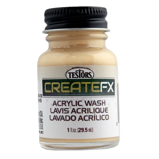 Testors® Createfx® Acrylic Wash Paint in Basswood | 1 oz | Michaels®