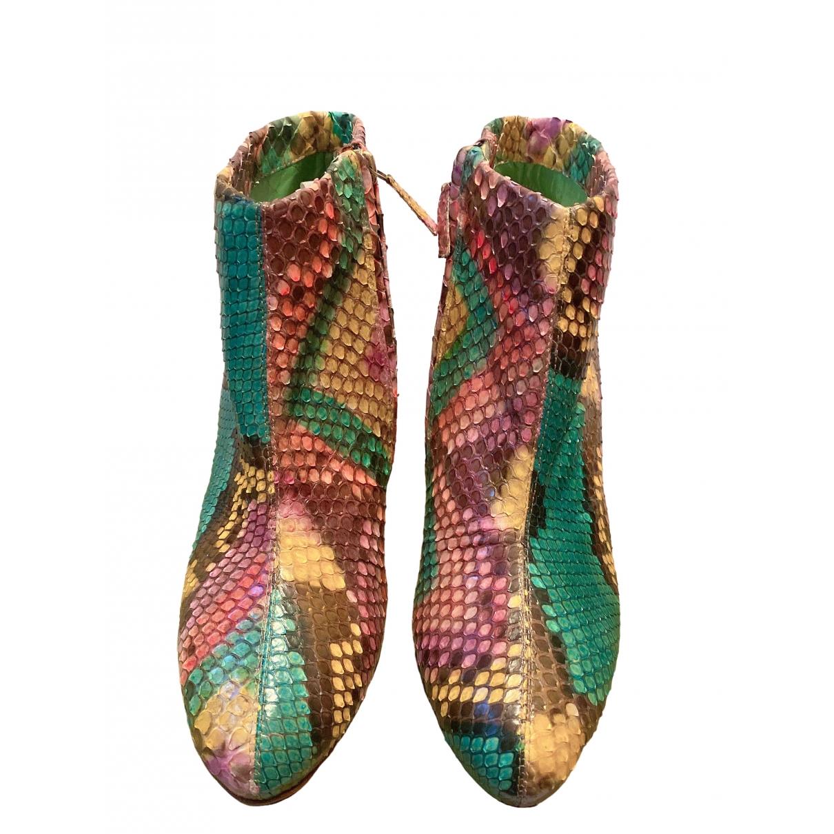 Rupert Sanderson \N Multicolour Python Ankle boots for Women 38 EU
