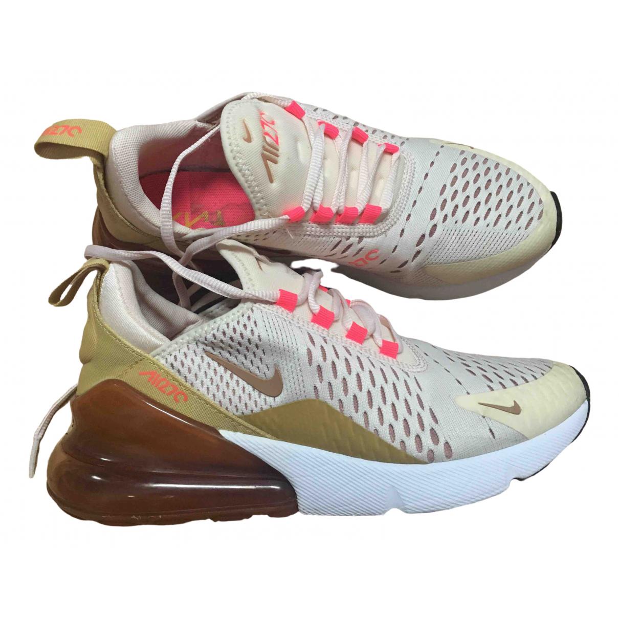 Nike - Baskets Air Max 270  pour femme en toile - beige
