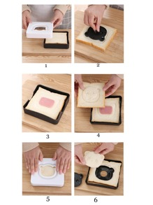 1 Set Karikatur Sandwichform