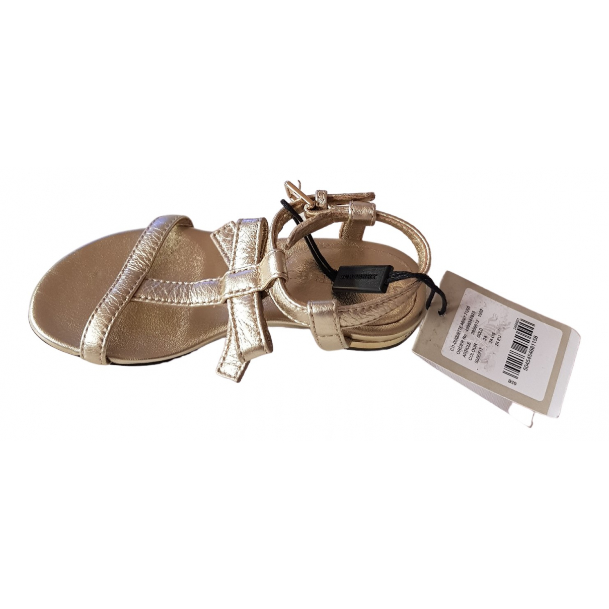 Burberry \N Gold Leather Sandals for Kids 24 FR