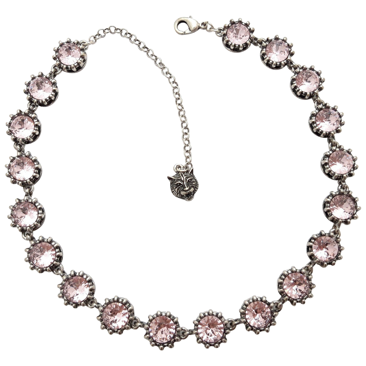 - Collier Motifs Animaliers pour femme en cristal - rose
