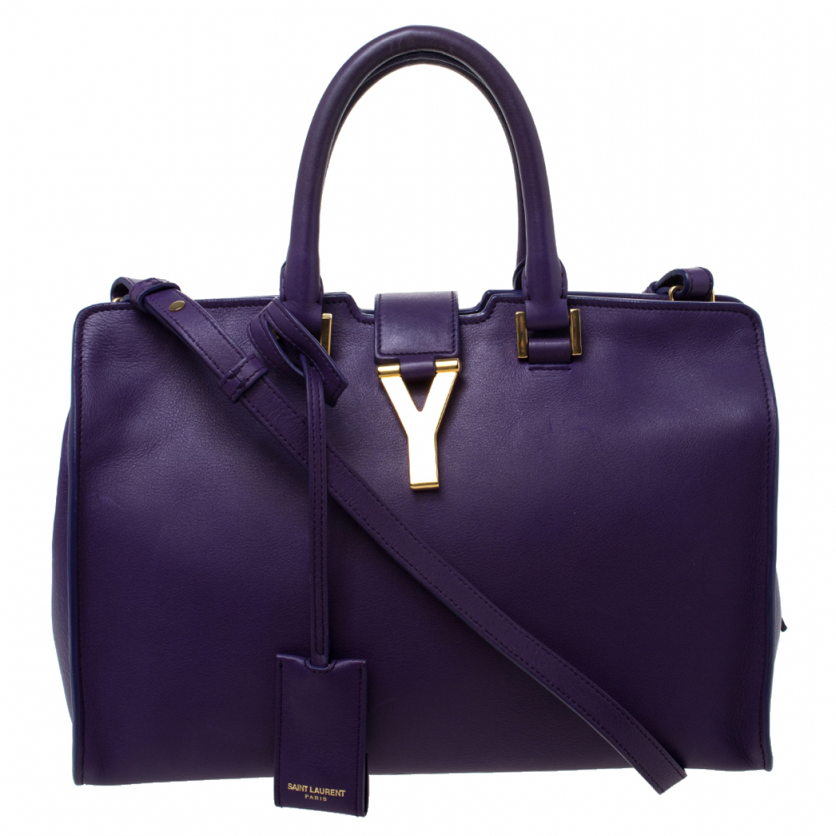 Saint Laurent - Sac a main   pour femme en cuir - violet