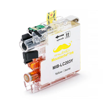 Compatible Brother MFC-J4420DW Yellow Ink Cartridge by Moustache, High Yield