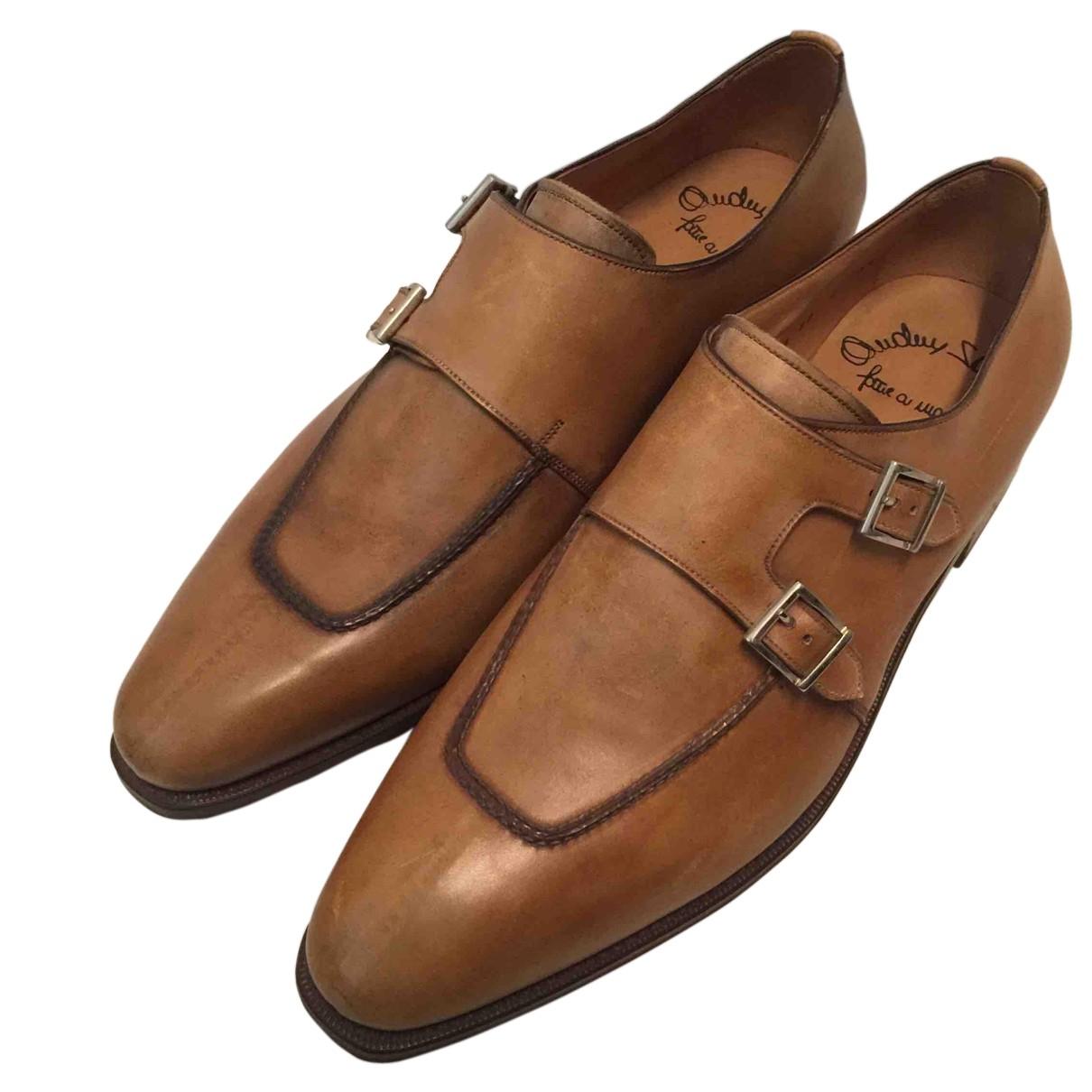Santoni N Camel Leather Lace ups for Men 8.5 UK