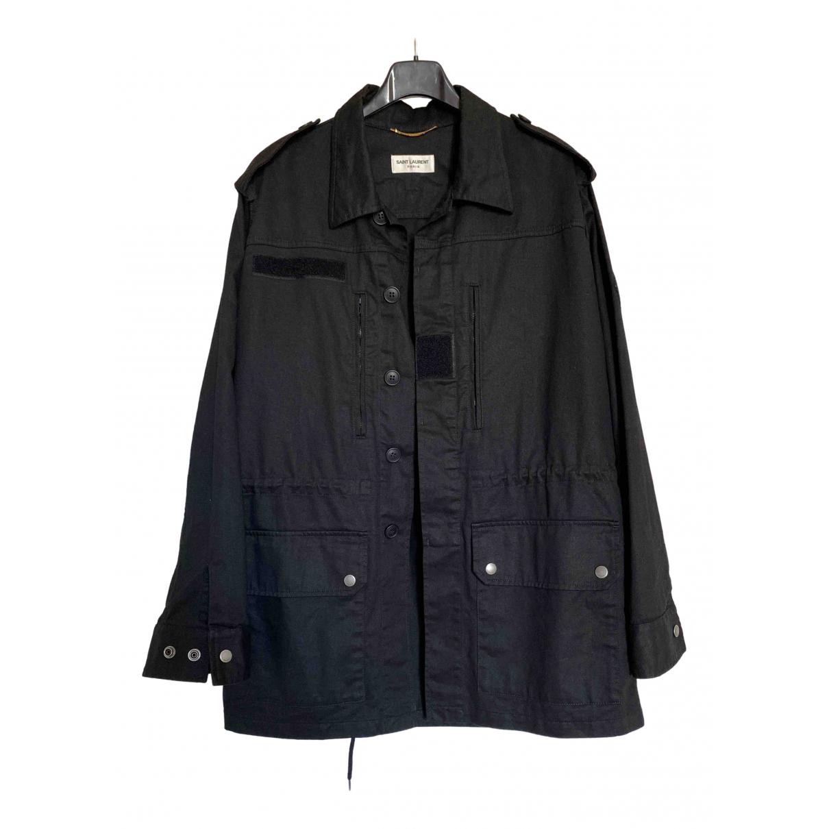 Saint Laurent \N Black Cotton jacket for Women 40 FR