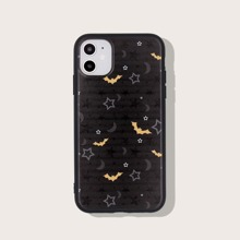 Halloween Star & Bat Print iPhone Case