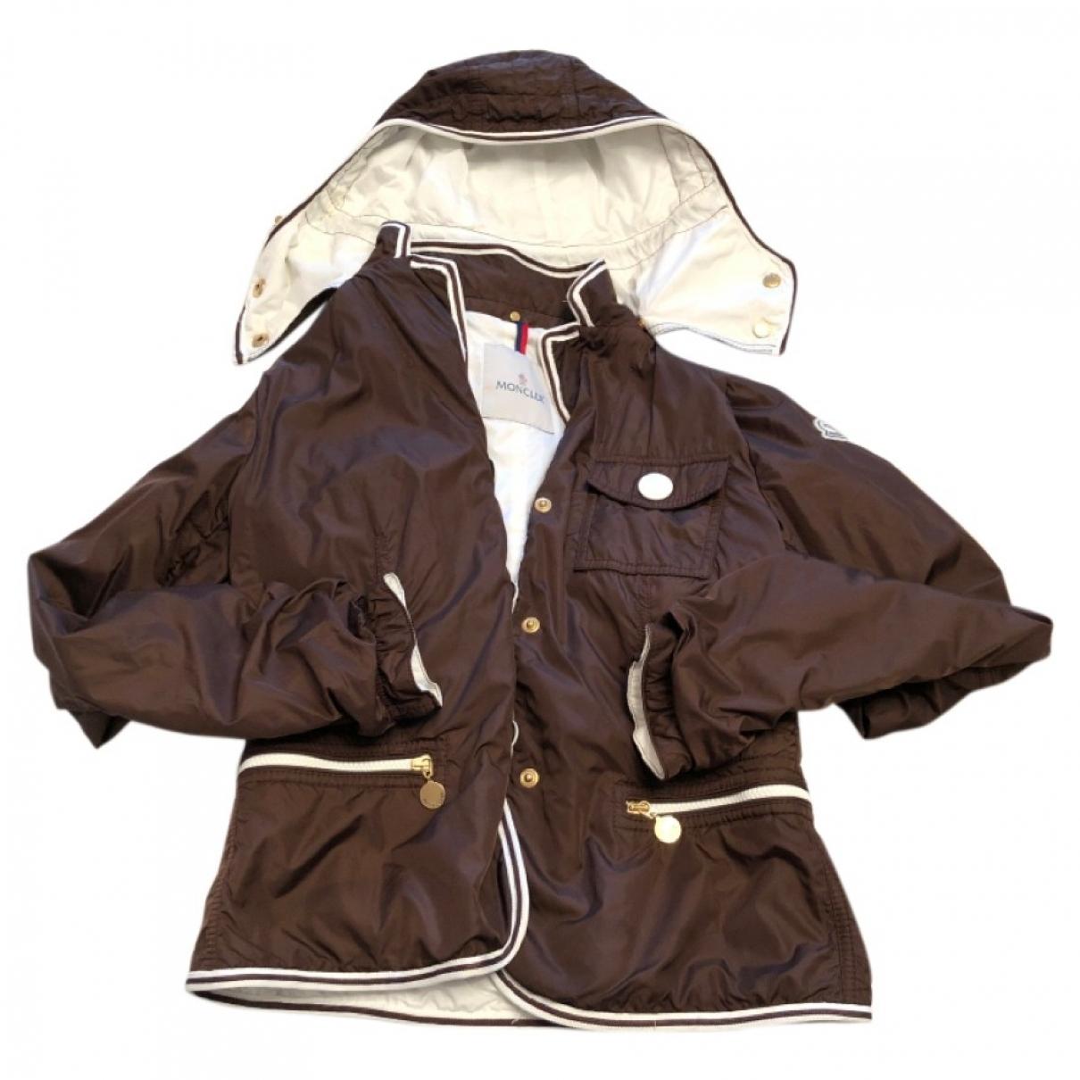 Moncler Sleeveless Jacke in  Braun Polyester