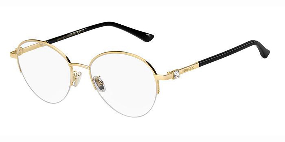 Jimmy Choo JC290/F Asian Fit RHL Women's Glasses Gold Size 54 - Free Lenses - HSA/FSA Insurance - Blue Light Block Available
