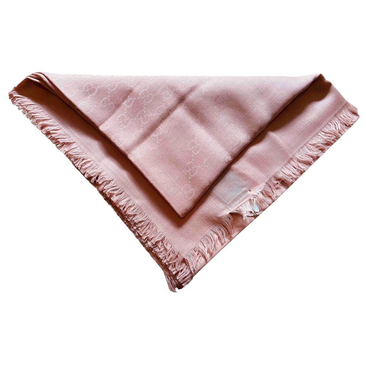 Gucci - Foulard   pour femme en laine - rose