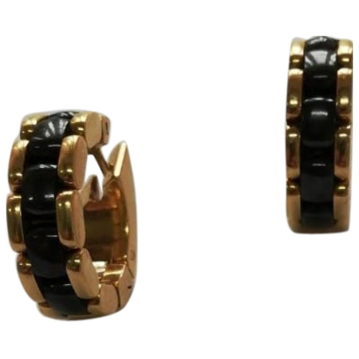 Chanel Ultra Black Yellow gold Earrings for Women N