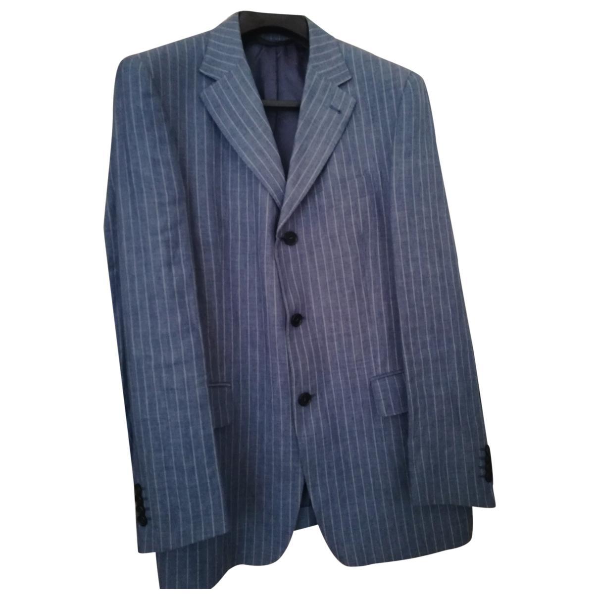 Brooksfield - Costumes   pour homme en lin - bleu