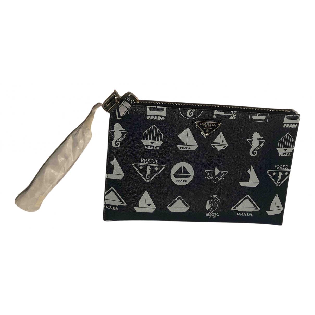 Prada N Blue Leather bag for Men N